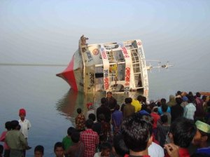 Tentulia river, Bangladesh ferry, capsize, Muslim holiday