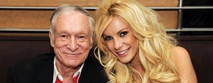 Hugh Hefner and Playmate Crystal Harris get engaged.