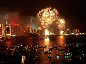 Chinese New Year celebration in Hong Kong